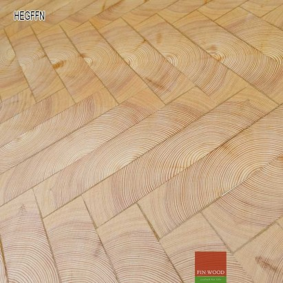 End grain - Herringbone end grain flooring fitting natural #CraftedForLife