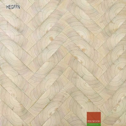 End grain - Herringbone end grain flooring fitting natural