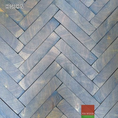 End grain - Herringbone end grain flooring fitting hand bevelled natural