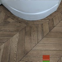 Parquet herringbone with curved borders by Fin Wood Ltd - London #CraftedForLife