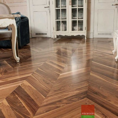 Engineered chevron flooring parquet