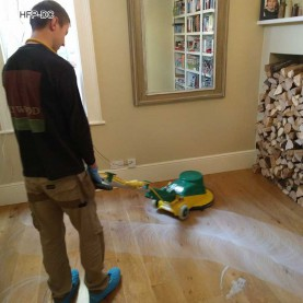 Hardwood Floor Professional Deep Cleaning - Scrubbing