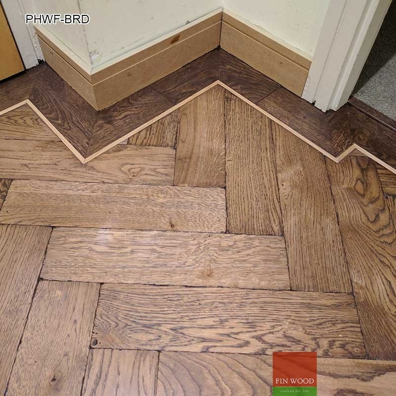 parquet herringbone wood flooring with border. Black Bedroom Furniture Sets. Home Design Ideas