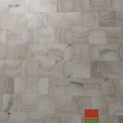 Square blocks end grain flooring