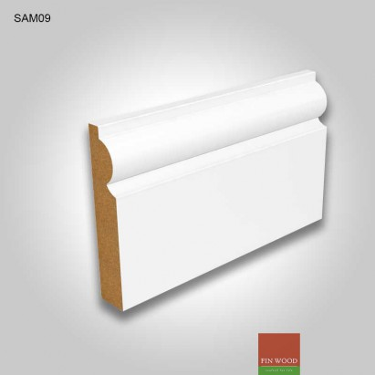 MDF Torus skirting white pre-primed