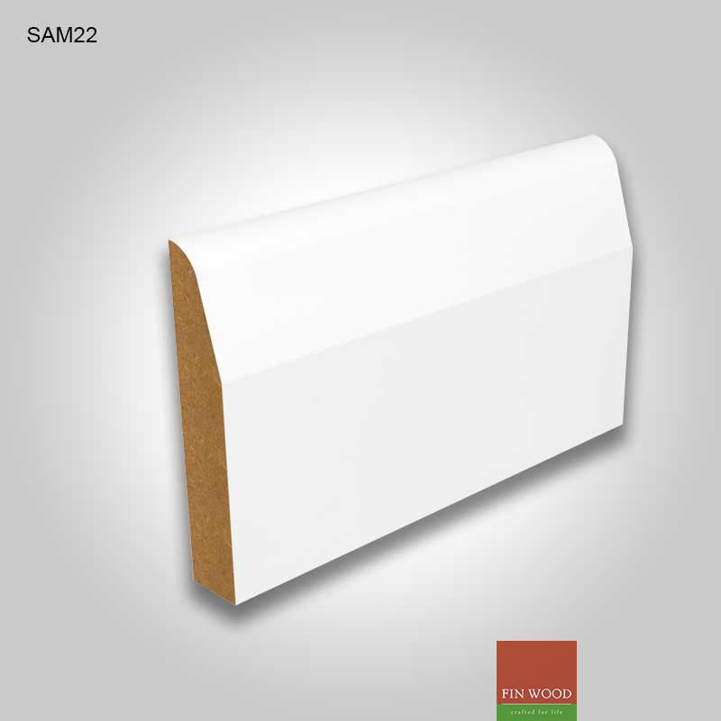 Mdf Chamfered Skirting Boards White Pre Primed