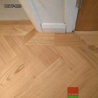 Parquet Herringbone wood flooring with border by Fin Wood Ltd London