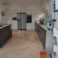 Herringbone parquet flooring by Fin Wood Ltd. London