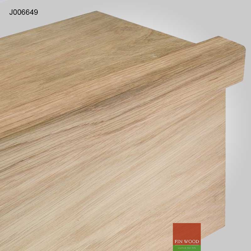 Stair Lipping - solid natural Oak 40x40mm