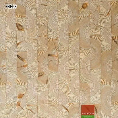 End grain - Rectangular end grain flooring fitting natural