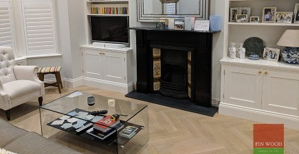 Herringbone Parquet Replaces New Carpet and Transforms Home