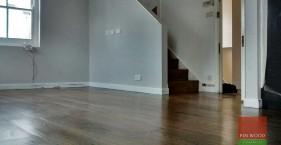 Wide Oak Boards Engineered, bespoke finished by us in Notting Hill