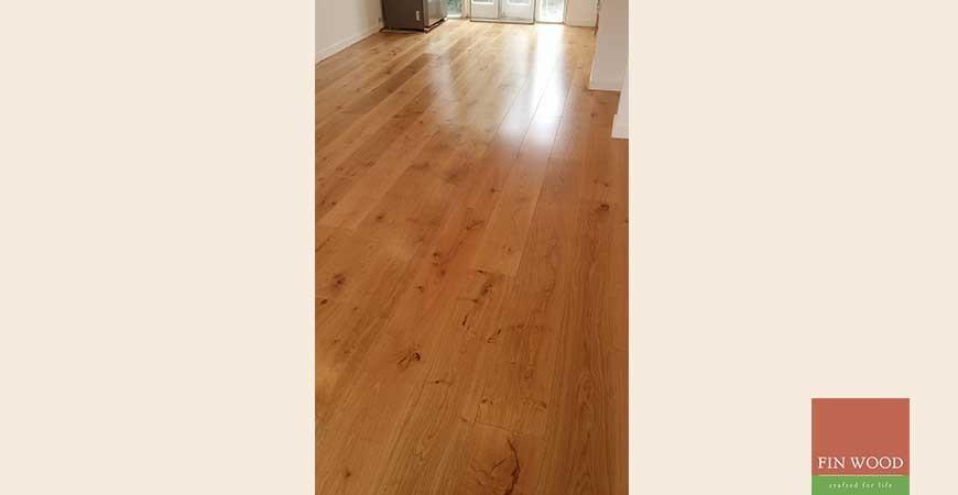 Wide Engineered Oak Boards fitting
