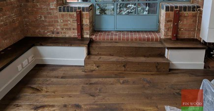 Warehouse Conversion is Given an Update With a New Modern Wooden Floor
