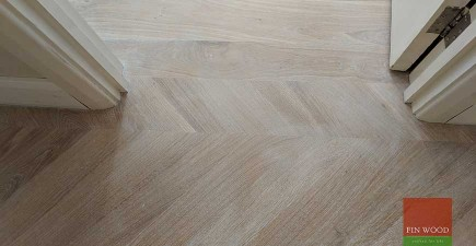 Mixing flooring style creates a floor with character #CraftedForLife