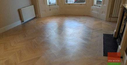 Mixing flooring style creates a floor with character