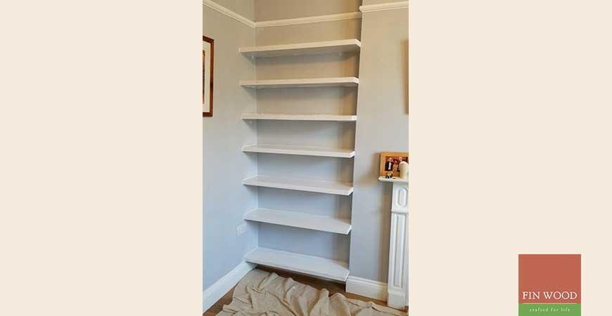 bespoke floating shelves made to measure. Black Bedroom Furniture Sets. Home Design Ideas