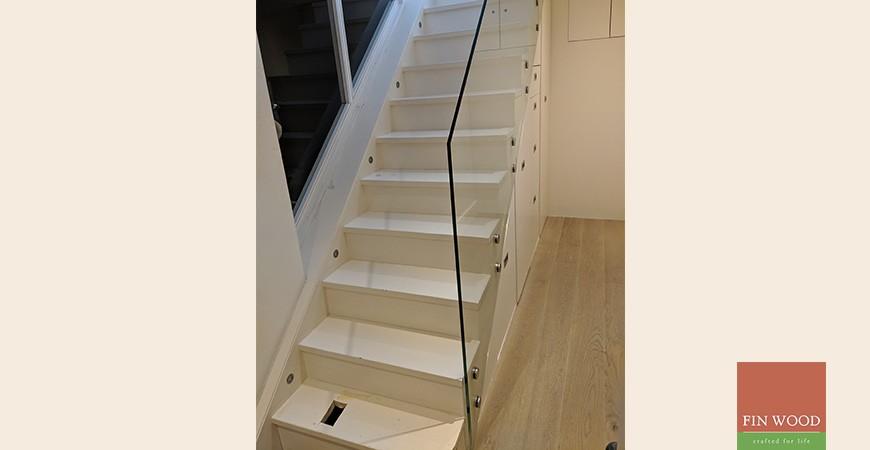 Modern Bespoke Staircase Clad in Engineered Oak