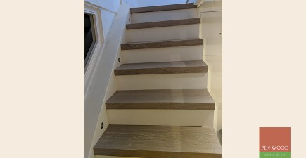 Modern Bespoke Staircase Clad in Engineered Oak