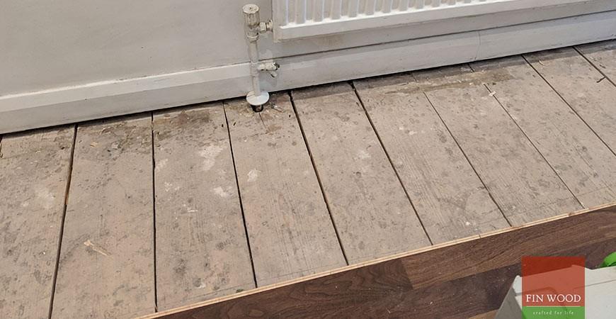 New Walnut Floor Replaces Water Damaged Laminate in Fulham, SW6 #CraftedForLife