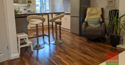 New Walnut Floor Replaces Water Damaged Laminate in Fulham, SW6 #CraftedForLife