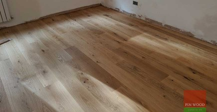 Engineered oak wood flooring fitted in award winning eco apartment in Kensington, W8 #CraftedForLife