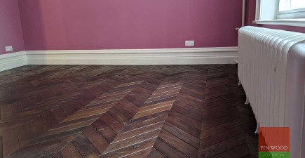 Vintage French oak chevron brings 19th century elegance to Bloomsbury Mansion flat, WC1B #CraftedForLife