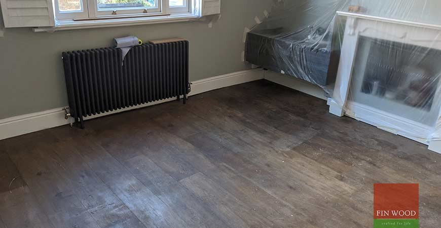 Elegant herringbone parquet and  much needed stability to a bouncing floor in Richmond TW9 #CraftedForLife