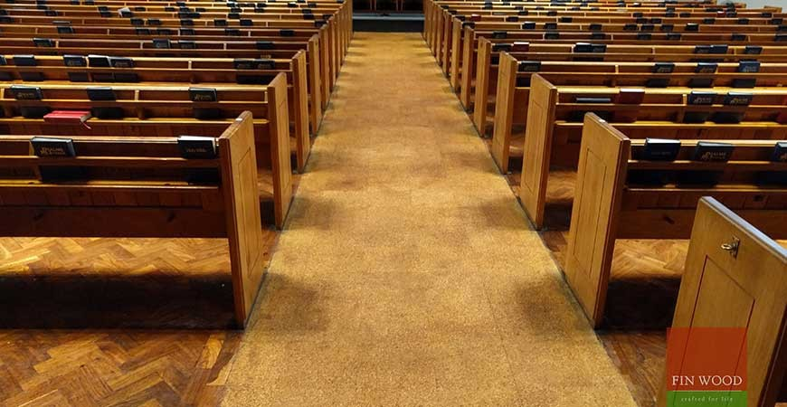 Cork Floor Restoration at Metropolitan Tabernacle, Elephant and Castle, London #CraftedForLife