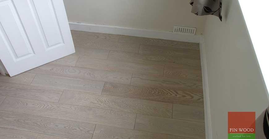 Grey Engineered Oak Flooring in Thames Ditton, Surrey