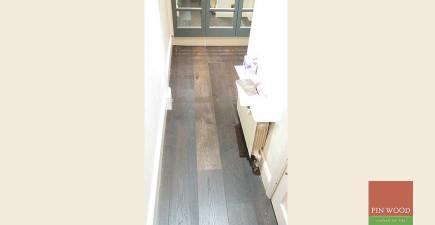 Engineered Oak Jacobean Pre-lacquered in Chelsea, London #CraftedForLife