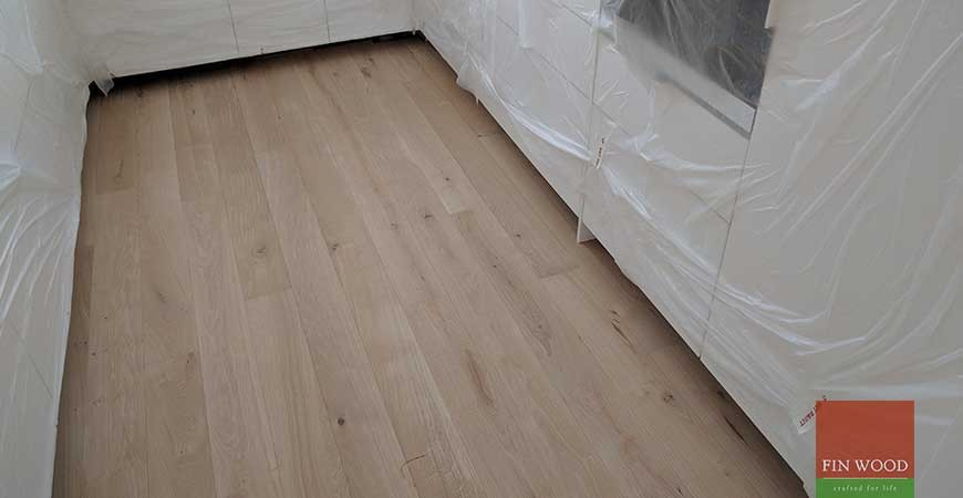 Oak Engineered Wood Floor Installation and Oil Finishing in Beckenham, London #CraftedForLife