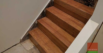 Bamboo boards Installation and Stair Cladding in SW8 Battersea, London #CraftedForLife