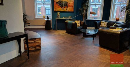 Herringbone Oak Parquet Installation in EC1R Clerkenwell, London #CraftedForLife