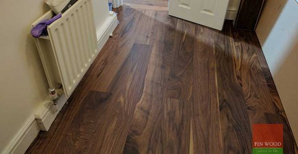 Walnut Engineered Boards Installation in W12 Shepherd's Bush, London  #CraftedForLife