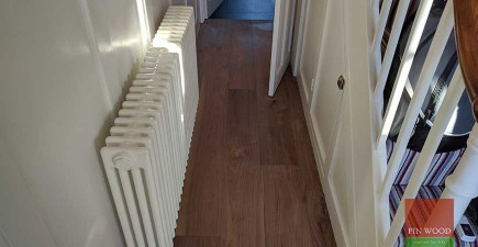 Wide Walnut engineered boards installation and oil finishing in KT1 Kingston upon Thames #CraftedForLife
