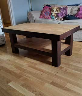 Wooden floor Matching furniture craftsmanship