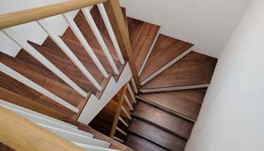 Stair cladding (wooden flooring on stairs, wood covering for stairs)
