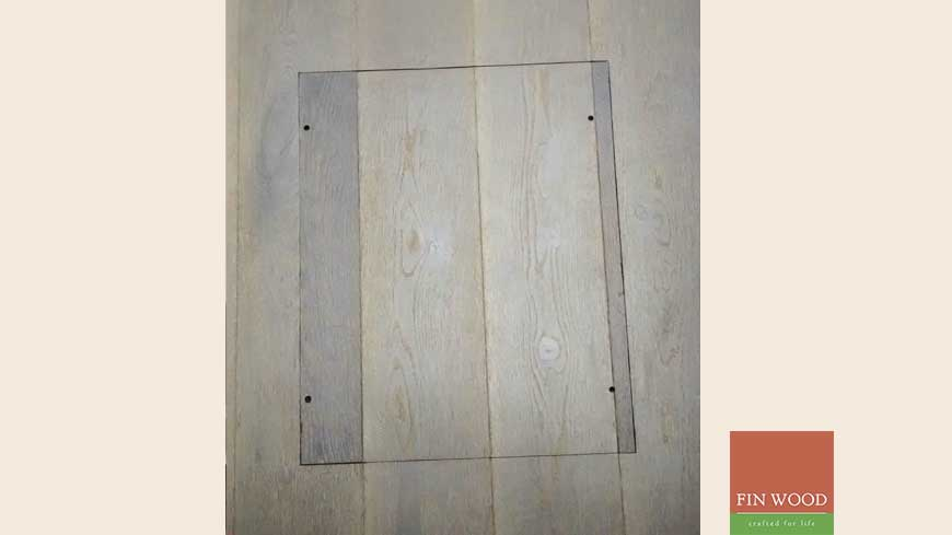 Access panel in wooden floors craftmanship 14