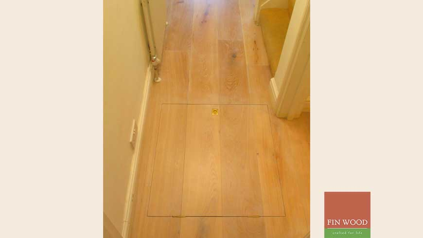 Access panel in wooden floors craftmanship 5