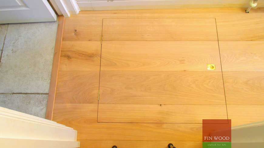 Access panel in wooden floors craftmanship 7