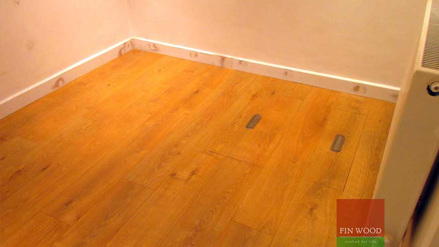 Access panel in wooden floors craftmanship 9