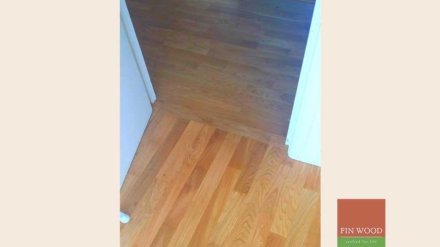 Direction change in wood flooring craftmanship 11