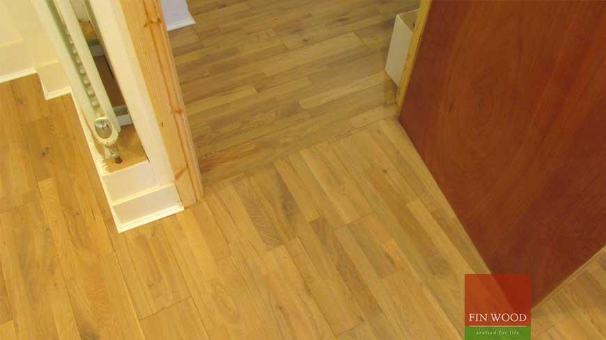 Direction change in wood flooring craftmanship 9