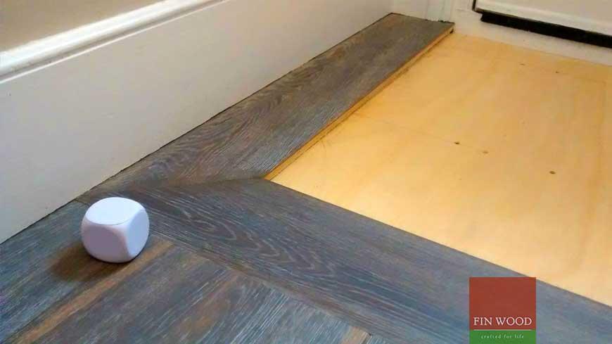 Integrated doormat in wooden flooring craftmanship 11