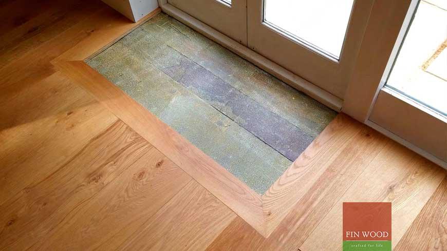 Integrated doormat in wooden flooring craftmanship 12