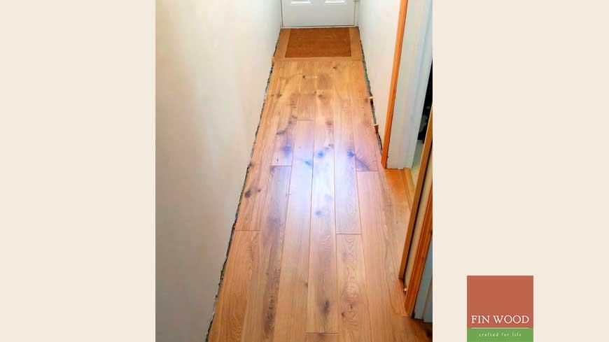 Integrated doormat in wooden flooring craftmanship 16