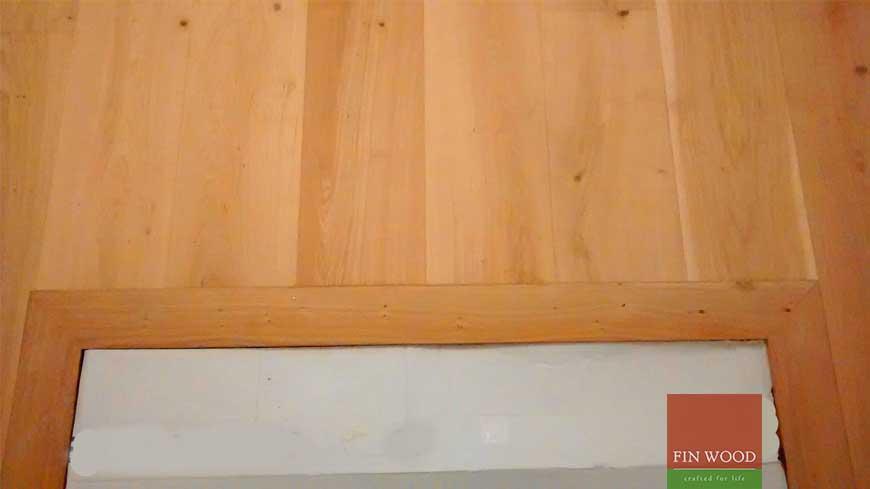 Integrated doormat in wooden flooring craftmanship 6
