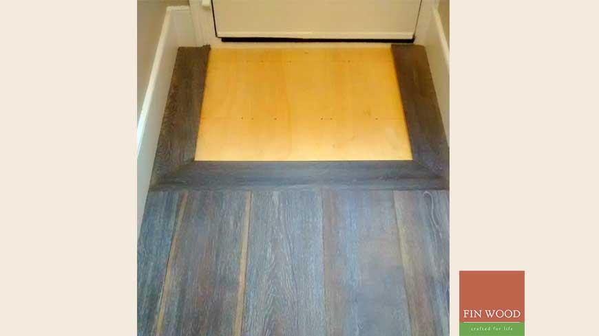 Integrated doormat in wooden flooring craftmanship 8
