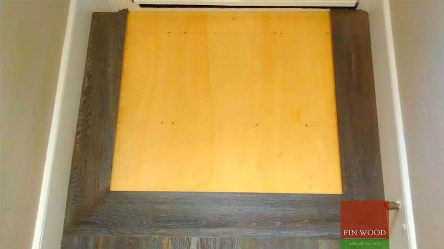 Integrated doormat in wooden flooring craftmanship 9